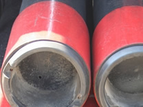Packing oil pipe