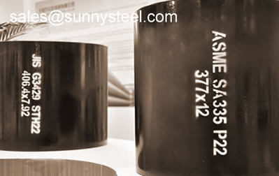 Seamless steel pipes for high temperature and pressure service