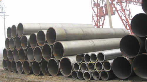 Stainless steel pipes for oil cracking